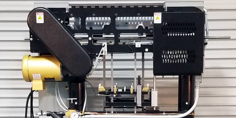 Back View of the XS-1250 High-Speed Can Labeling Machine